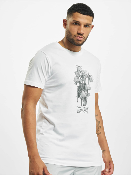 Mister Tee T-shirt Don´t Wait Rose bianco