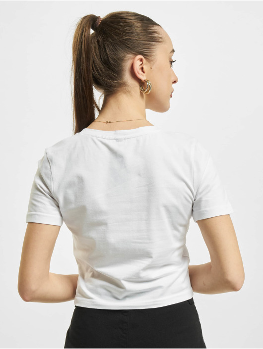 Mister Tee T-shirt Butterfly Cropped bianco