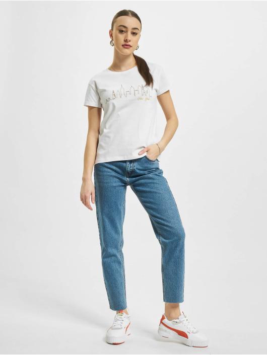 Mister Tee T-shirt Skyline Box bianco