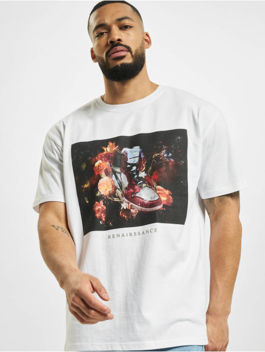 Mister Tee T-shirt Renairssance Painting Oversize bianco