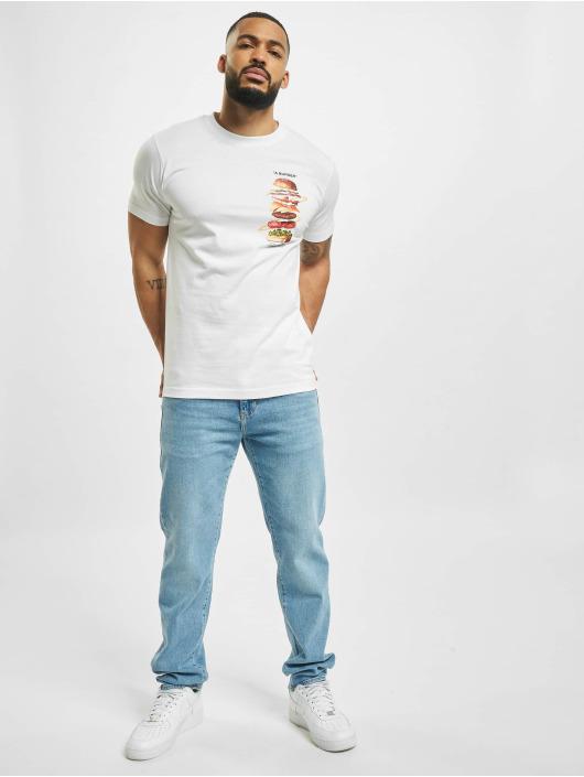 Mister Tee T-shirt A Burger bianco