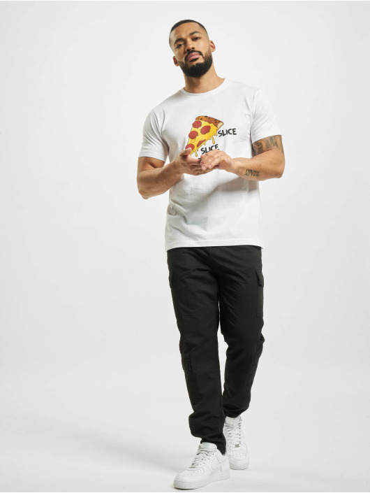 Mister Tee T-shirt Slice Slice Baby bianco