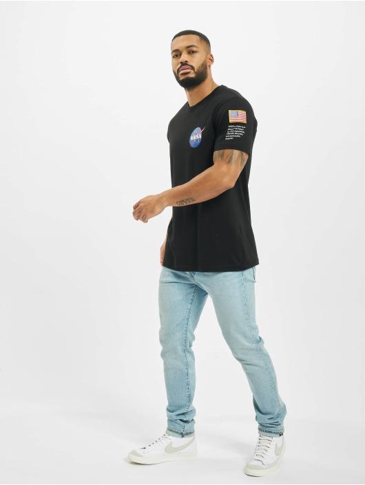 Mister Tee T-Shirt NASA Insignia Logo Flag black