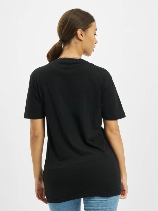 Mister Tee T-Shirt One Line Rose black