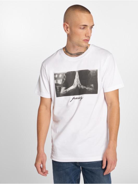 Mister Tee T-Shirt Pray blanc
