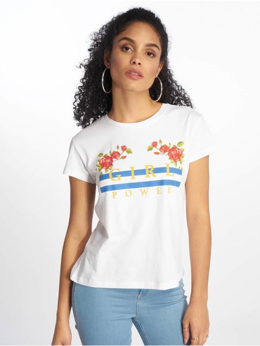 Mister Tee T-Shirt Girl Power blanc