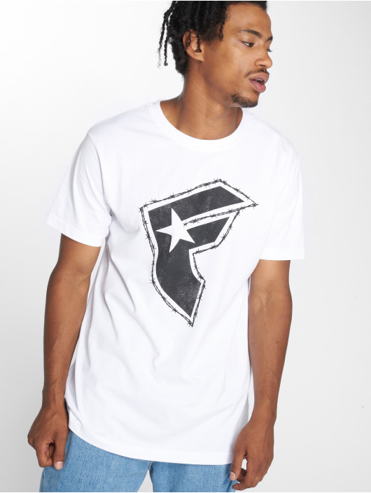 Mister Tee T-Shirt Barbed blanc