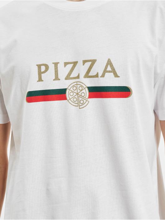 Mister Tee T-Shirt Pizza Slice blanc