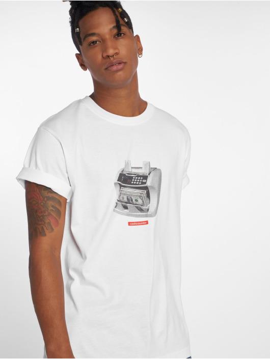 Mister Tee T-Shirt Cashcounter blanc