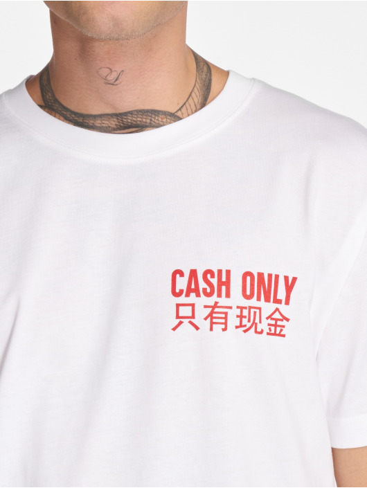 Mister Tee T-Shirt Cash Only blanc