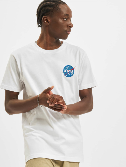 Mister Tee T-Shirt Nasa Logo Embroidery blanc