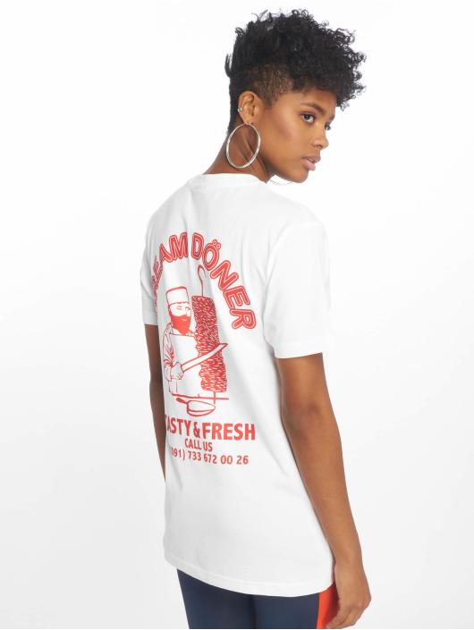 Mister shirt Femme Tee 619160 Döner Blanc T D29EHI