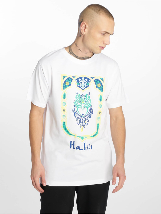 Mister Tee T-Shirt Habibi Owl blanc