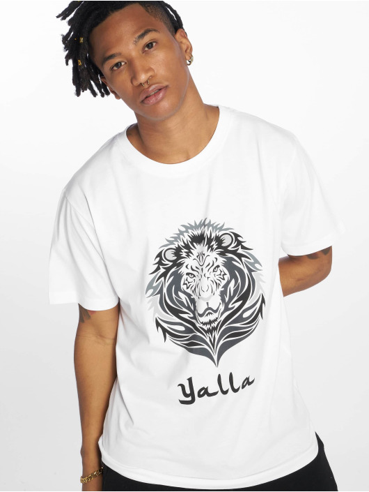 619238 Blanc Lion T shirt Tee Homme Yalla Mister HIWE2D9
