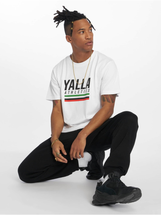 Mister Tee T-Shirt Yalla Athletic blanc