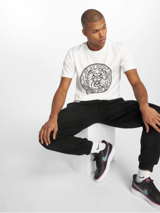 Mister Tee T-Shirt Lion Face blanc