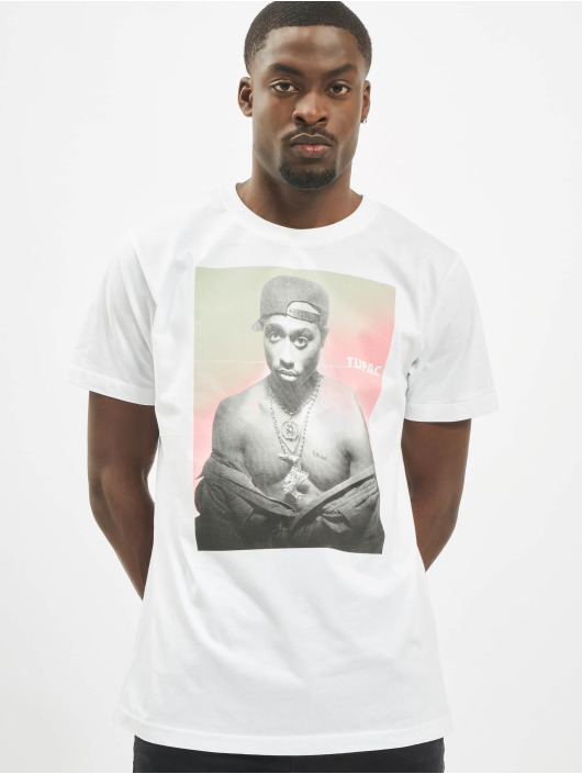 Mister Tee T-Shirt Tupac Afterglow blanc