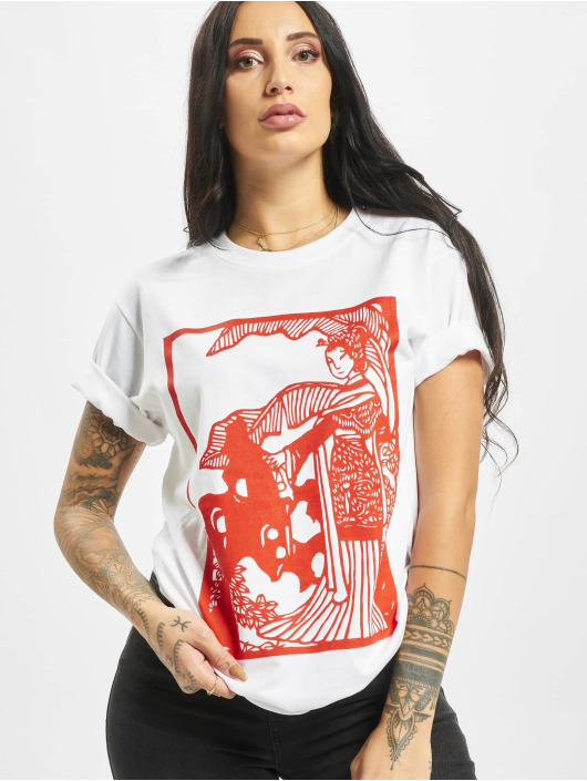 Mister Tee T-Shirt Chinese Beauty blanc
