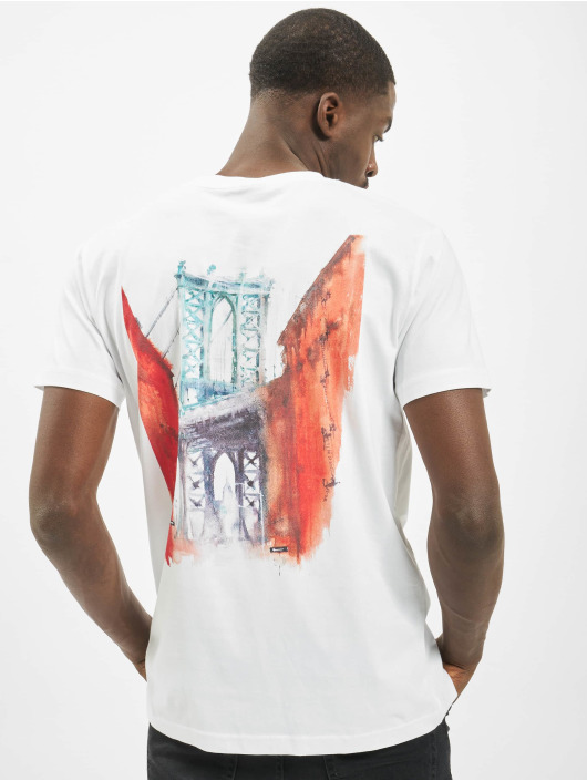 Mister Tee T-Shirt Downtown blanc