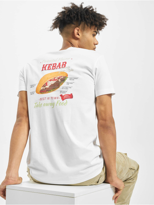 Mister Tee T-Shirt Create Your Kebab blanc