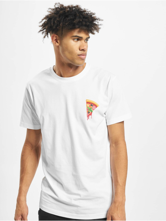Mister Tee T-Shirt Create Your Pizza blanc