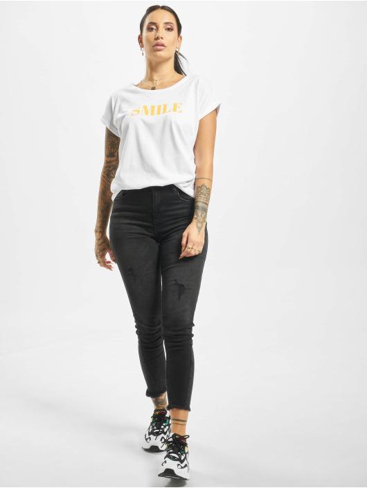Mister Tee T-Shirt Smile blanc