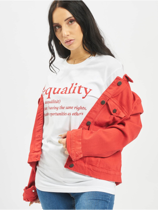 Mister Tee T-Shirt Equality Definition blanc