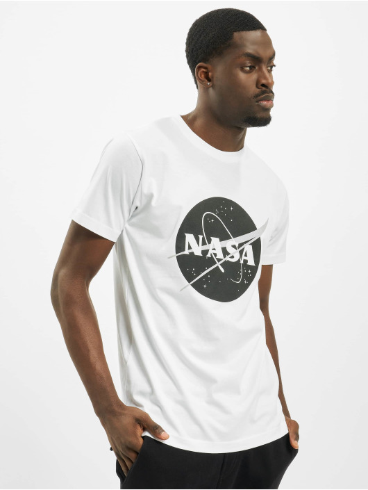 Mister Tee T-Shirt Nasa Black-And-White Insignia blanc