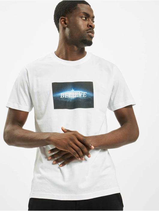Mister Tee T-Shirt Believe blanc