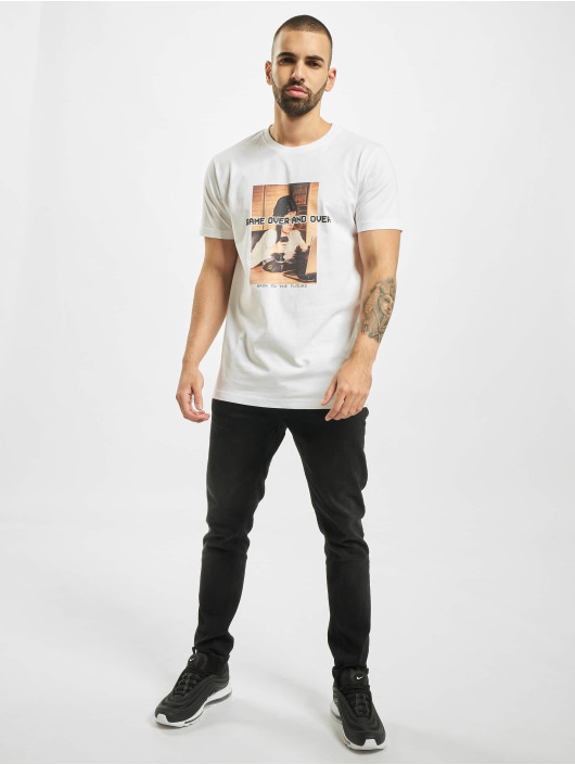 Mister Tee T-Shirt Game Over And Over blanc
