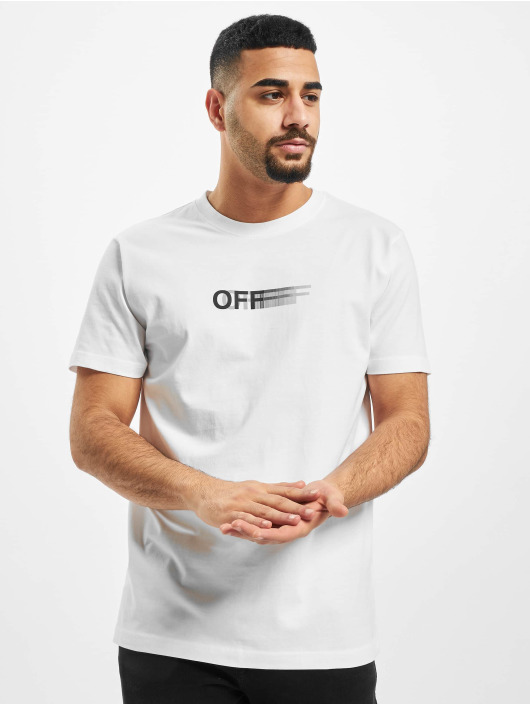 Mister Tee T-Shirt Blurry Off blanc