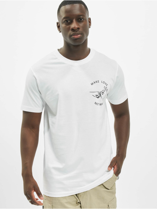 Mister Tee T-Shirt Make Love blanc