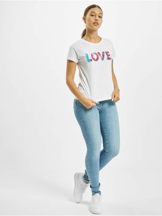 Mister Tee T-Shirt Love Batik Box blanc
