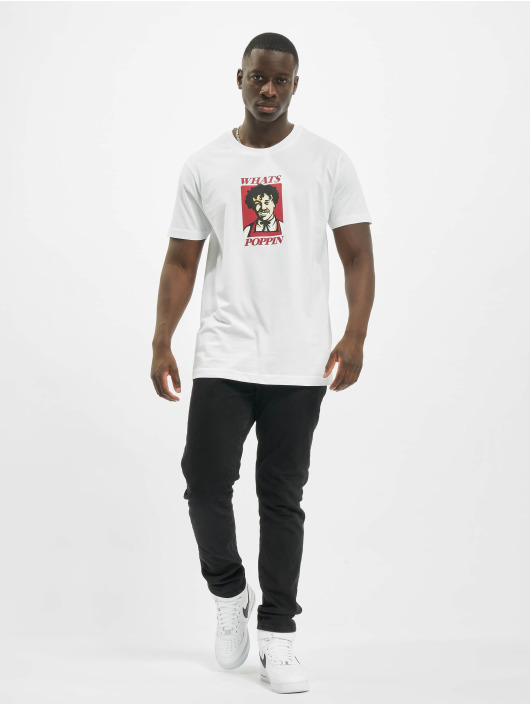 Mister Tee T-Shirt Whats Poppin blanc