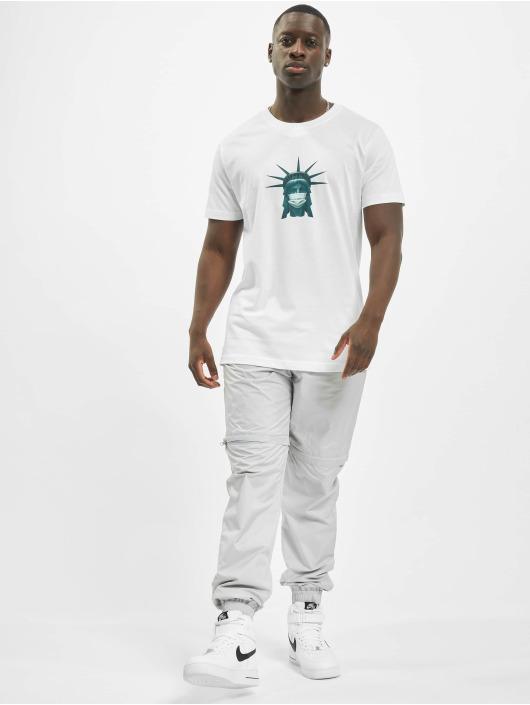 Mister Tee T-Shirt Liberty Mask blanc