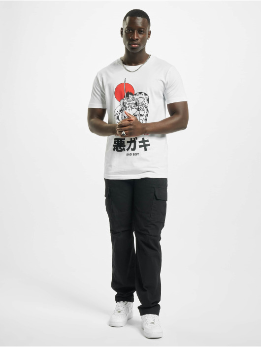 Mister Tee T-Shirt Bad Boy Stand Up blanc