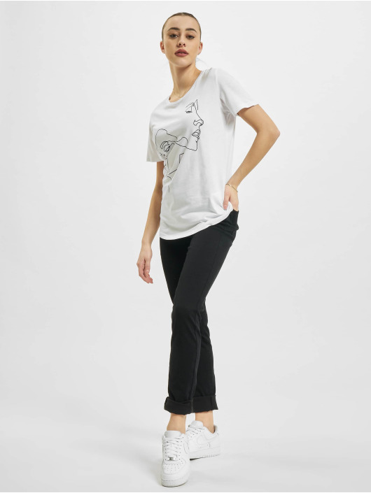Mister Tee T-Shirt One Line Fit blanc