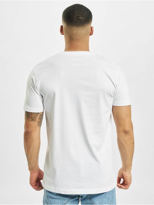 Mister Tee T-Shirt Pizza Pineapple blanc