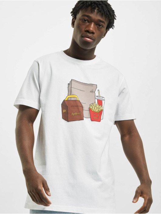 Mister Tee T-Shirt Meal blanc