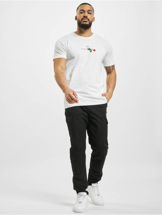 Mister Tee T-Shirt Rose Love blanc