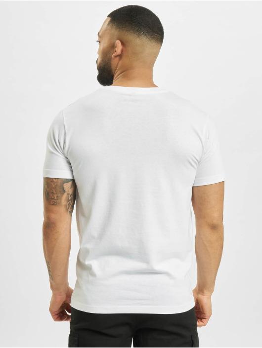Mister Tee T-Shirt Mic Drop blanc