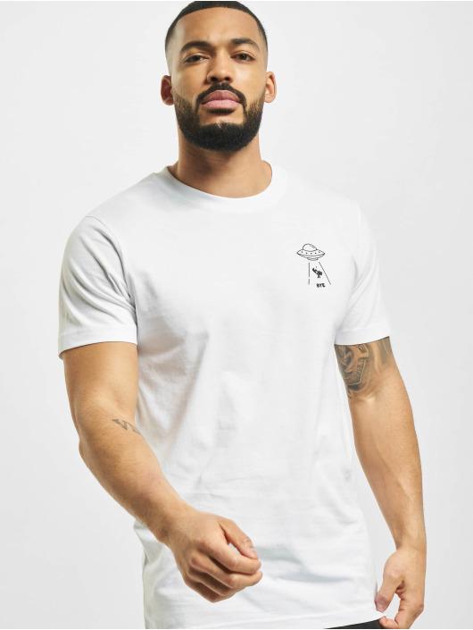 Mister Tee T-Shirt Ufo Drop blanc