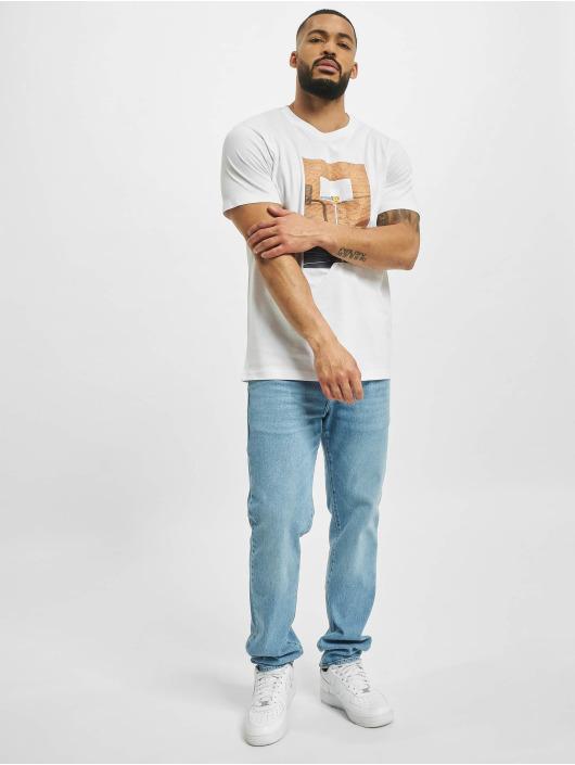 Mister Tee T-Shirt Pizza Basketball Court blanc