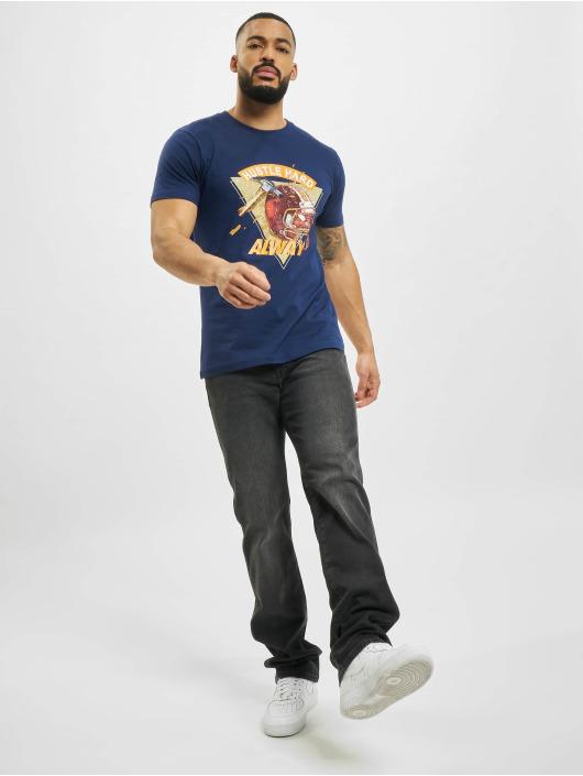 Mister Tee T-Shirt Hustle Hard Always blue