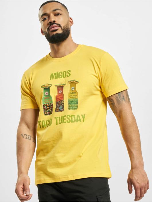 Mister Tee T-Shirt Migos Tuesday Taco gelb