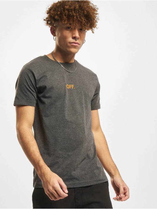 Mister Tee T-Shirt Off Emb grey