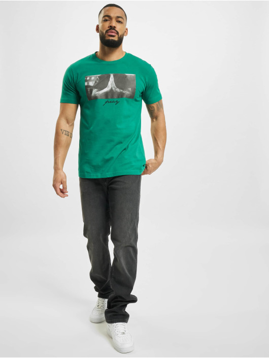 Mister Tee T-Shirt Pray grün
