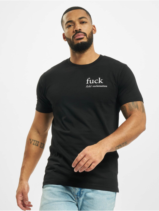 Mister Tee T-shirt Fck nero
