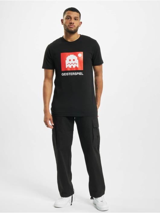 Mister Tee T-shirt Geisterspiel nero