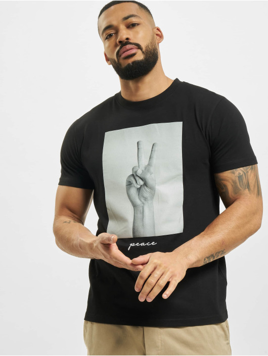 Mister Tee T-shirt Peace Sign nero